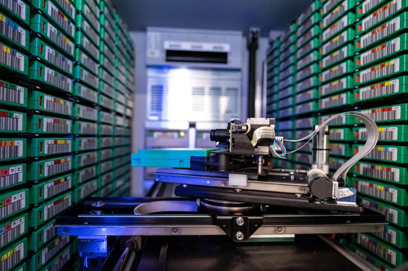almacenamiento de datos en cinta