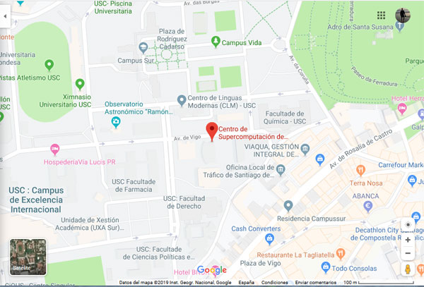Cómo llegar al Centro de Supercomputación de Galicia