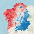 Mapa de Monitorización de distribución de Vespa velutina