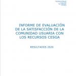 CESGA Informe Satisfacción Usuarios 2020