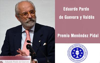 Eduardo Pardo de Guevara y Valdés, Premio Menéndez Pidal