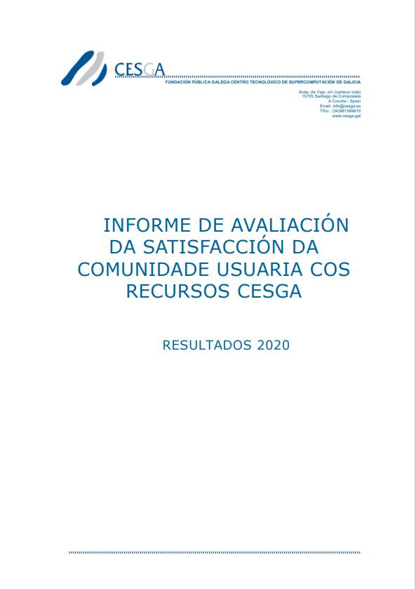CESGA Informe Satisfación Usuarios 2020