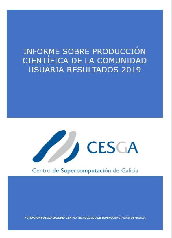 CESGA Informe Producción Científica 2019